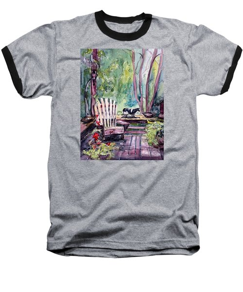 Baseball T-Shirt featuring the painting My Front Porch by Gretchen Allen