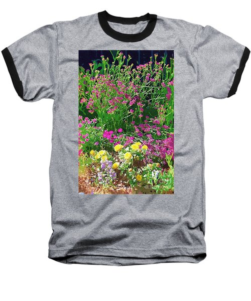 Baseball T-Shirt featuring the photograph My Garden   by Donna Bentley