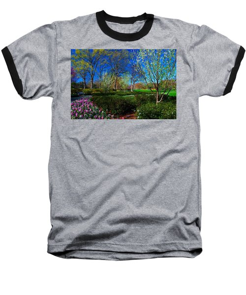 My Garden In Spring Baseball T-Shirt by Diana Mary Sharpton