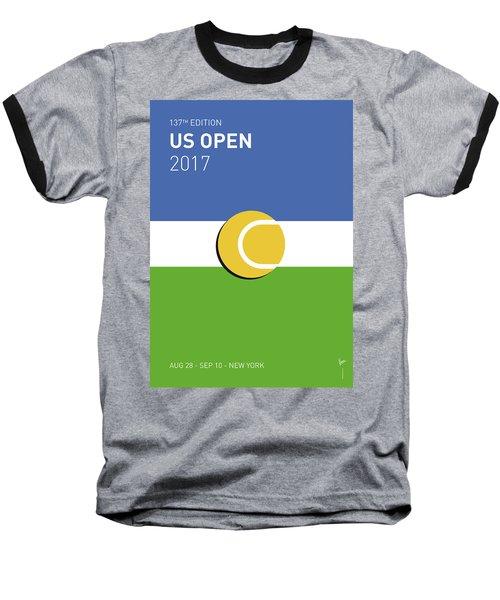My Grand Slam 04 Us Open 2017 Minimal Poster Baseball T-Shirt