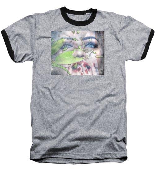 My Green Lady Baseball T-Shirt by Yury Bashkin