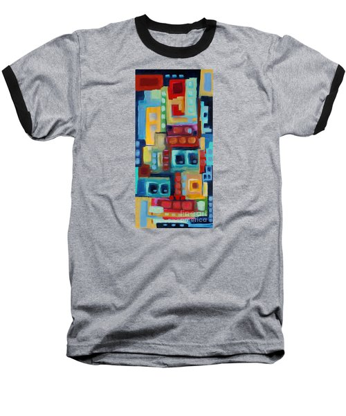 Baseball T-Shirt featuring the painting My Jazz N Blues 3 by Holly Carmichael