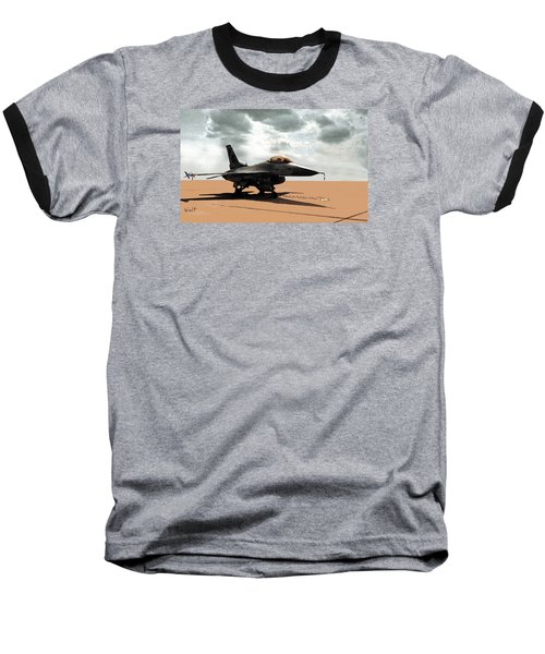 My Jet Baseball T-Shirt by Walter Chamberlain