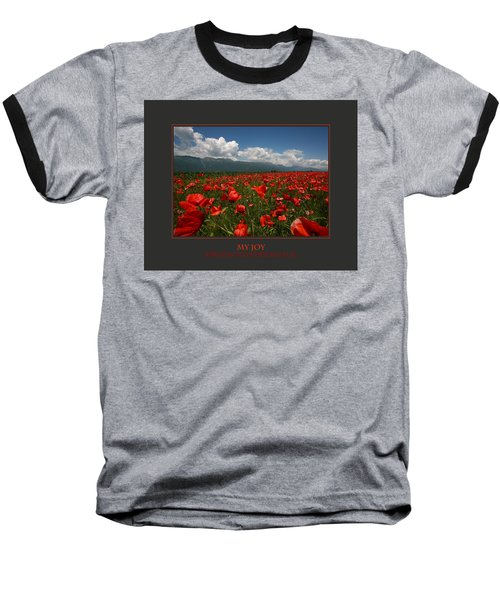 Baseball T-Shirt featuring the photograph My Joy Spreads To Everyone Else by Donna Corless