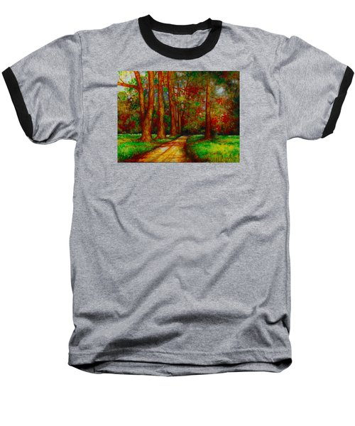 Baseball T-Shirt featuring the painting My Land by Emery Franklin