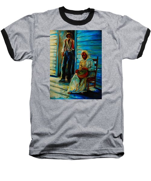 Baseball T-Shirt featuring the painting My Mom by Emery Franklin