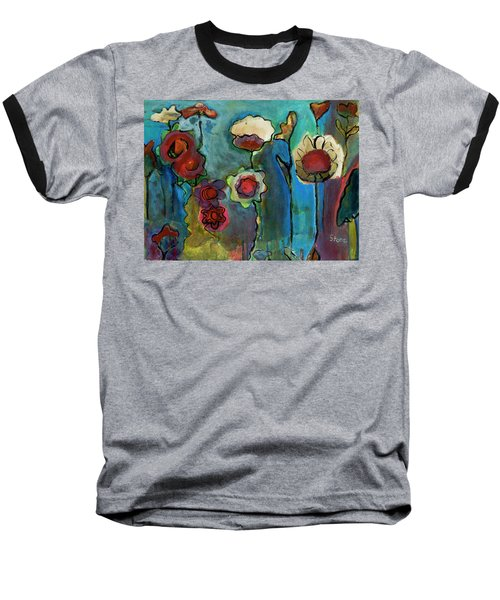 Baseball T-Shirt featuring the painting My Mother's Garden by Susan Stone