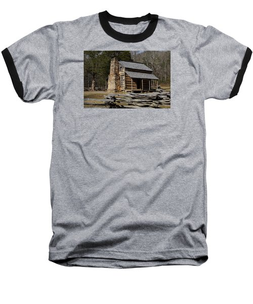 Baseball T-Shirt featuring the photograph My Mountain Home by B Wayne Mullins