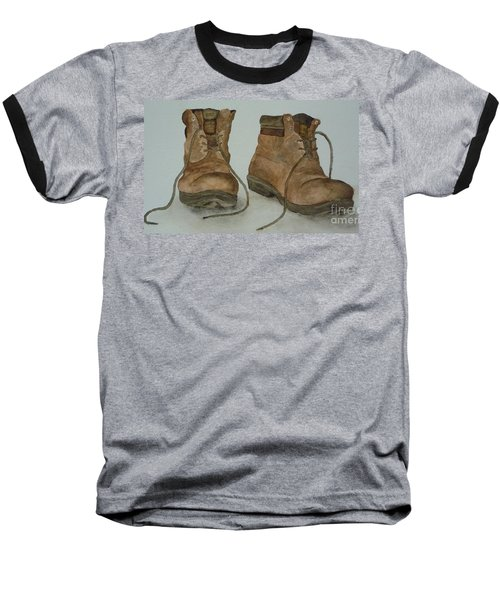 My Old Hiking Boots Baseball T-Shirt by Annemeet Hasidi- van der Leij