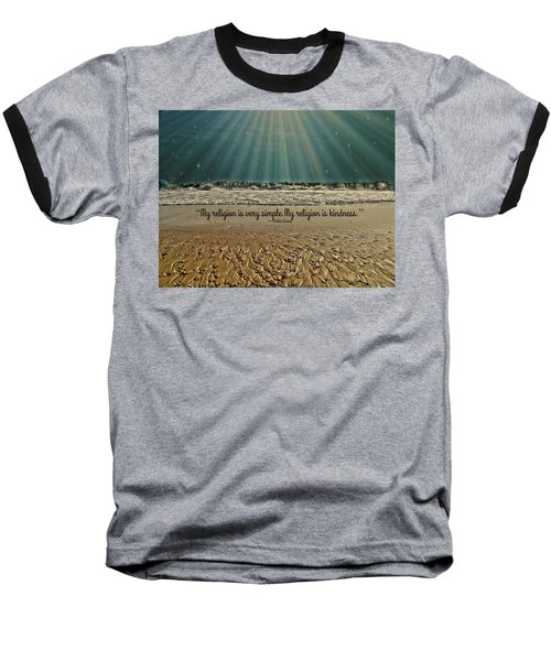 Baseball T-Shirt featuring the mixed media My Religion by Trish Tritz
