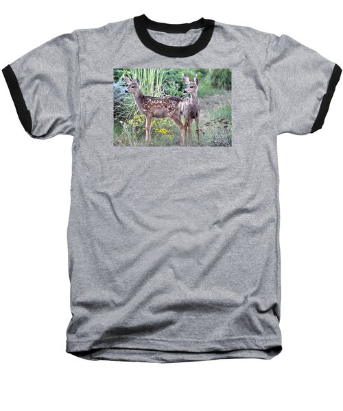 Baseball T-Shirt featuring the photograph Me And My Shadow  by Juls Adams