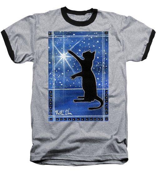 My Shinning Star - Christmas Cat Baseball T-Shirt
