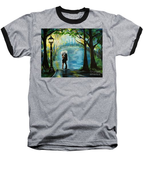 Baseball T-Shirt featuring the painting My Soulmate by Leslie Allen