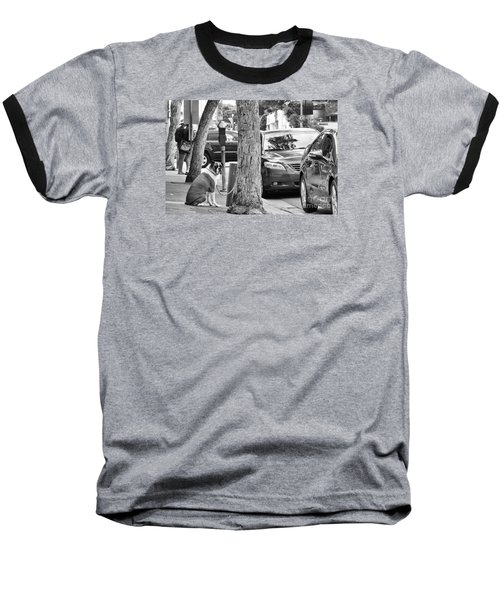 My Street, Dude Baseball T-Shirt by Vinnie Oakes