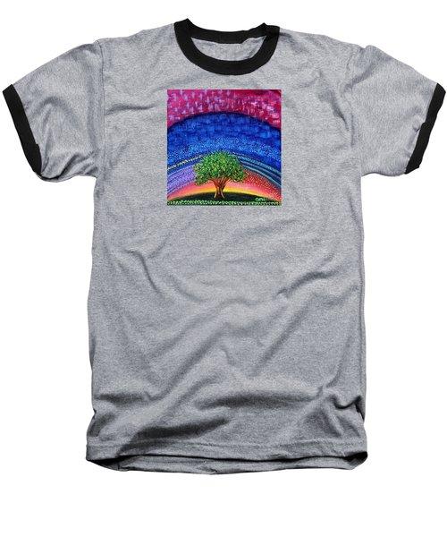 Tree At Nightfall Baseball T-Shirt