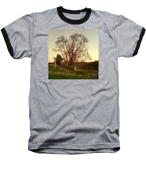 Baseball T-Shirt featuring the photograph My Tree Has A Soul  by Delona Seserman