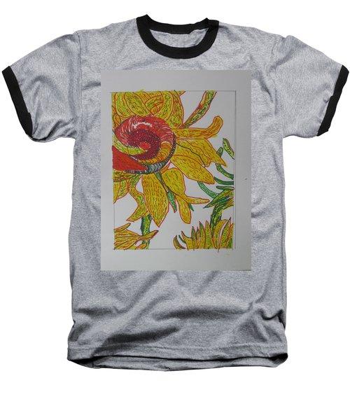 My Version Of A Van Gogh Sunflower Baseball T-Shirt