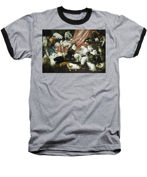 My Wife's Lovers Baseball T-Shirt by Carl Kahler