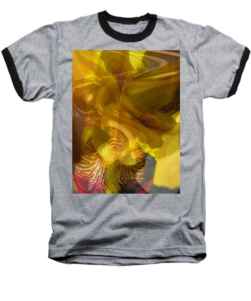 My Wild Iris Abstract - Photography  Baseball T-Shirt