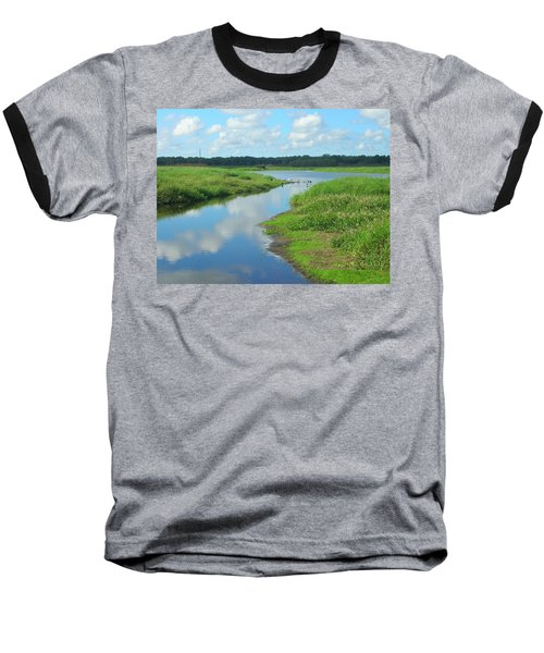 Baseball T-Shirt featuring the photograph Myakka River Reflections by Emmy Marie Vickers