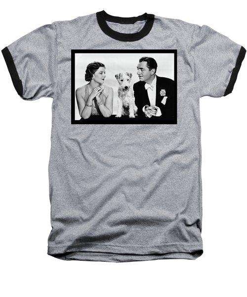 Myrna Loy Asta William Powell Publicity Photo The Thin Man 1936 Baseball T-Shirt by David Lee Guss