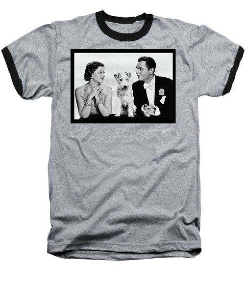 Myrna Loy Asta William Powell Publicity Photo The Thin Man 1936 Baseball T-Shirt