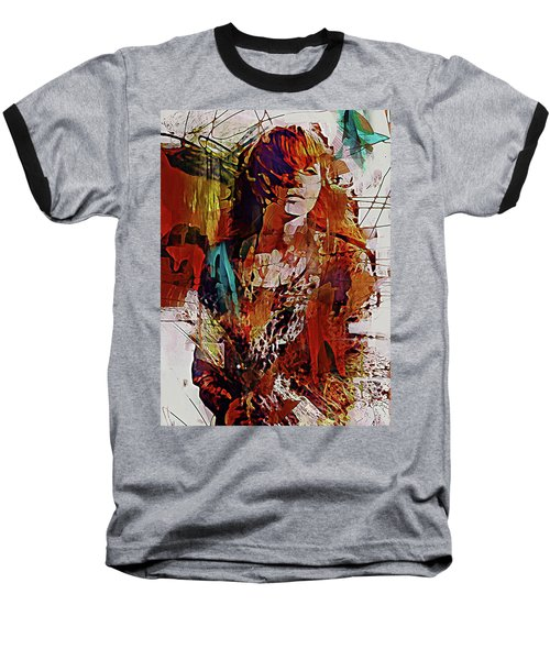 Baseball T-Shirt featuring the digital art Myrrh by Galen Valle