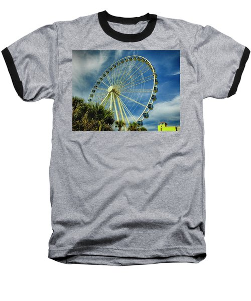 Myrtle Beach Skywheel Baseball T-Shirt by Bill Barber