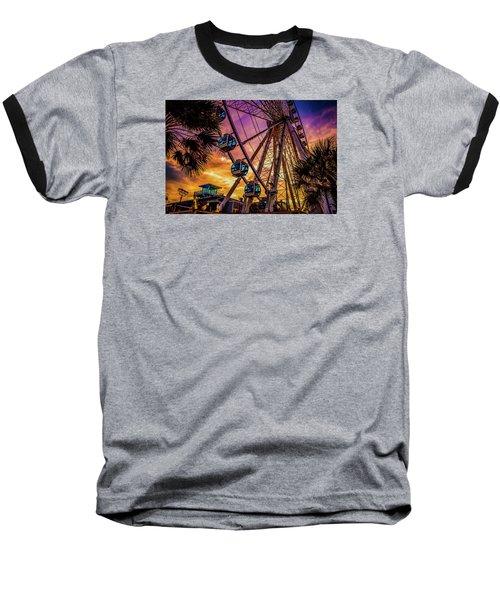 Myrtle Beach Skywheel Baseball T-Shirt by David Smith
