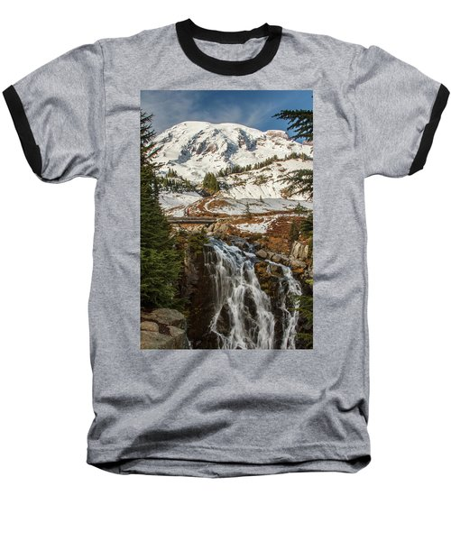 Myrtle Falls, Mt Rainier Baseball T-Shirt