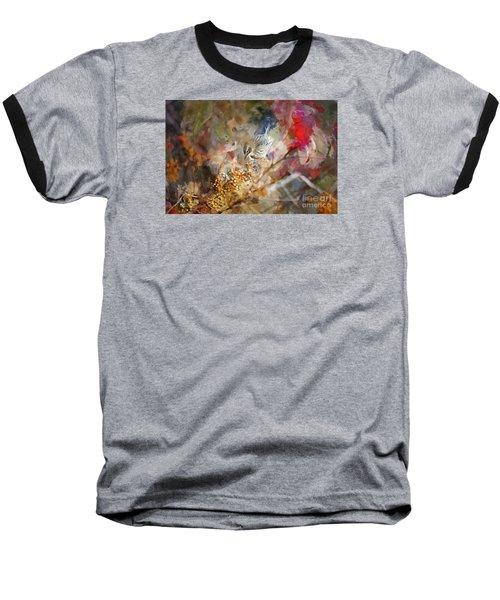 Myrtle Warbler Four Baseball T-Shirt by Suzanne Handel