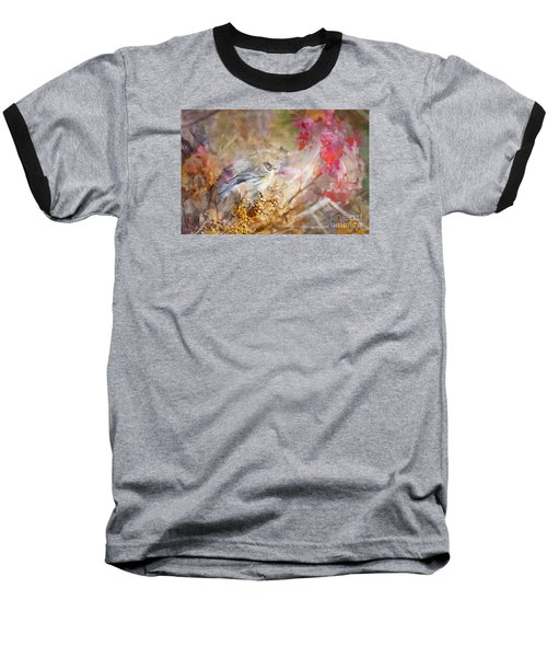 Myrtle Warbler Three Baseball T-Shirt by Suzanne Handel