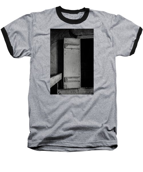 Mysterious Attic Door  Baseball T-Shirt by Off The Beaten Path Photography - Andrew Alexander