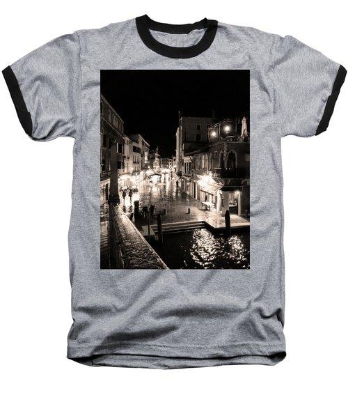Mysterious Venice Monochrom Baseball T-Shirt