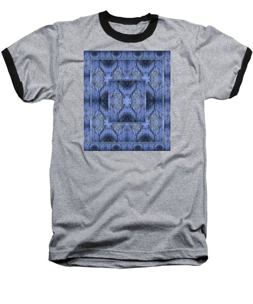 Mystery Blue Baseball T-Shirt by Joy Nichols