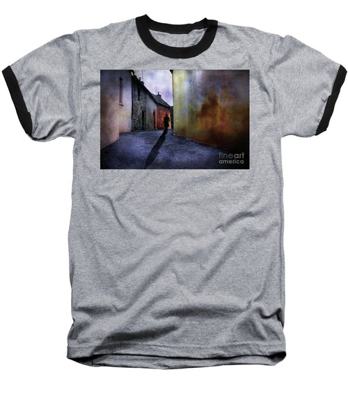 Baseball T-Shirt featuring the mixed media Mystery Corner by Jim  Hatch