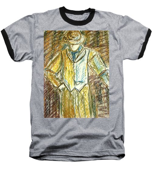 Baseball T-Shirt featuring the painting Mystery Man by Cathie Richardson