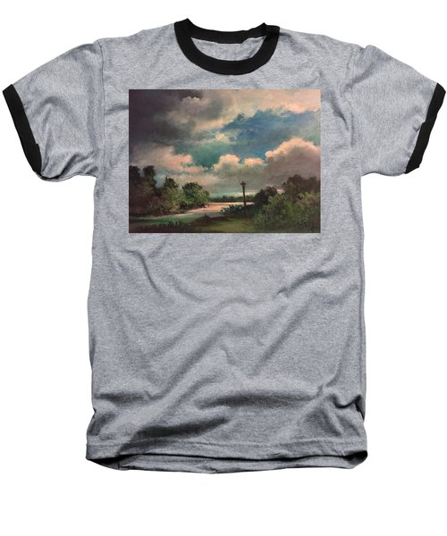Baseball T-Shirt featuring the painting Mystery Of God  The Eye Of God by Randol Burns
