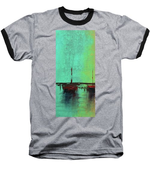 Mystic Bay Triptych 1 Of 3 Baseball T-Shirt
