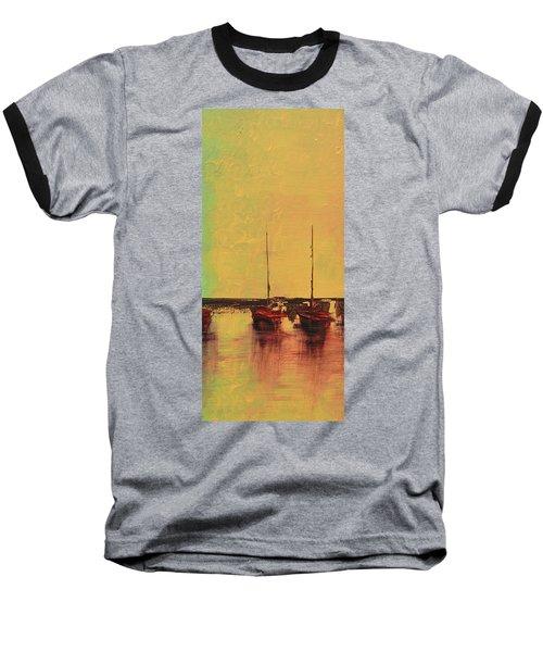 Mystic Bay Triptych 2 Of 3 Baseball T-Shirt