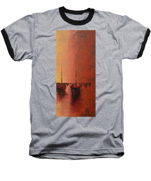 Mystic Bay Triptych 3 Of 3 Baseball T-Shirt