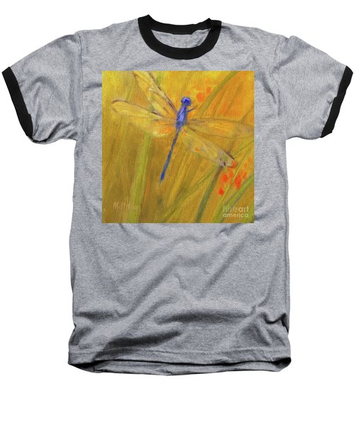 Mystic Dragonfly Baseball T-Shirt by Mary Hubley