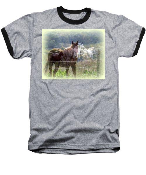 Mystic Horses Baseball T-Shirt