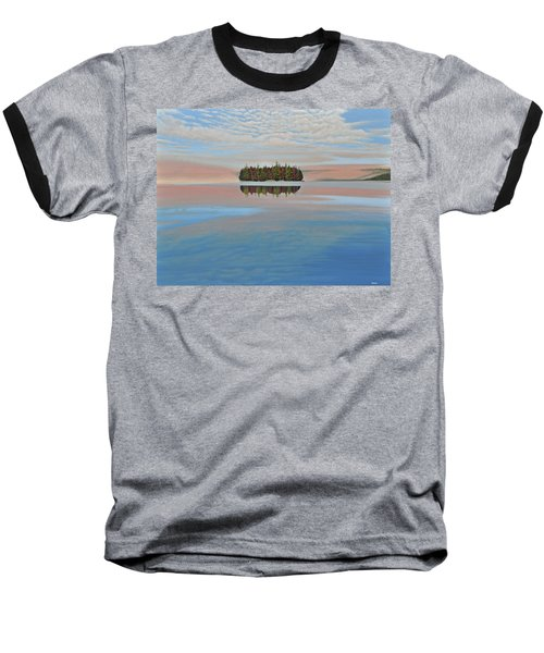 Baseball T-Shirt featuring the painting Mystic Island by Kenneth M  Kirsch