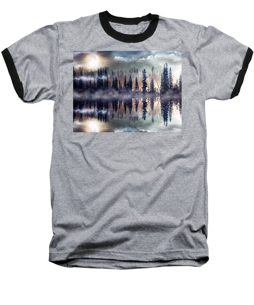 Mystic Lake Baseball T-Shirt by Gabriella Weninger - David