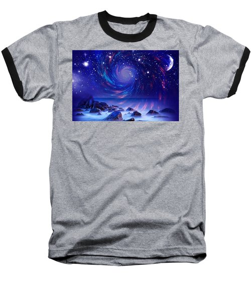 Mystic Lights Baseball T-Shirt by Gabriella Weninger - David