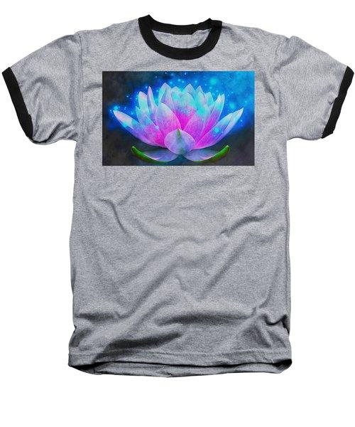 Mystic Lotus Baseball T-Shirt by Anton Kalinichev