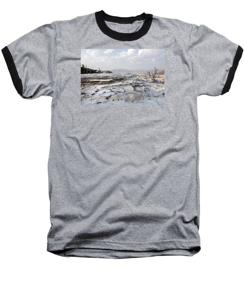 Mystic Scene From The Lower Terrace In Yellowstone National Park Baseball T-Shirt by Carol M Highsmith
