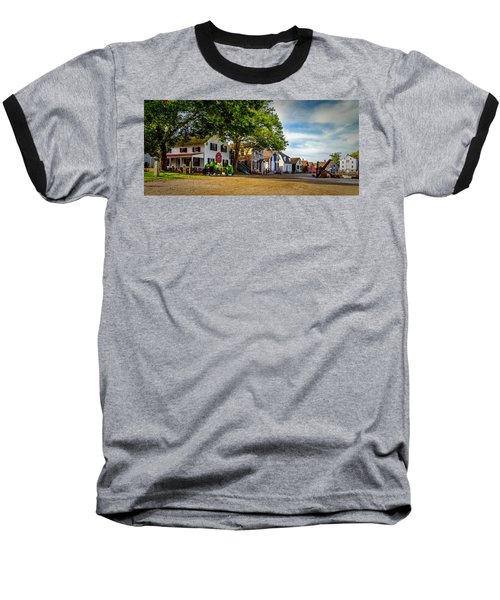 Mystic Seaport Village Baseball T-Shirt