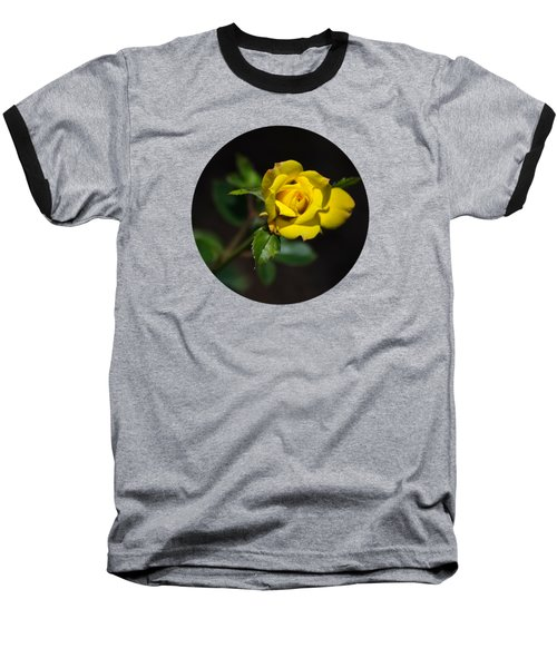 Baseball T-Shirt featuring the photograph Mystic Yellow Rose by Christina Rollo